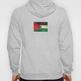 Vintage Aged and Scratched Palestinian Flag Hoody