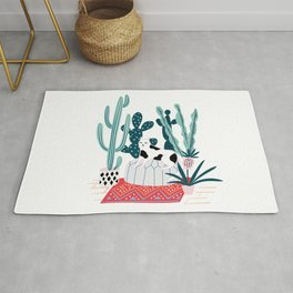 Cat and cacti Rug