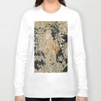 mucha Long Sleeve T-shirts featuring 1898 - 1900 Femme a Marguerite by Alphonse Mucha by BookCollecting101