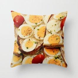 Egg Sandwich Throw Pillow