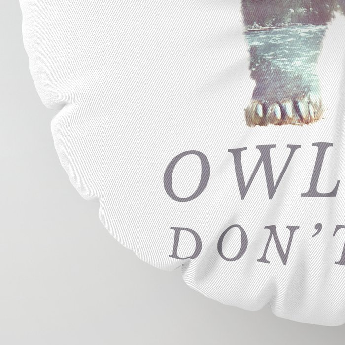 Owlbear (Typography) Floor Pillow