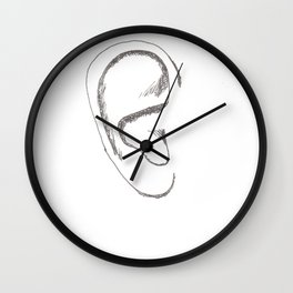 an earful Right Wall Clock