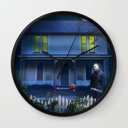 Haunted House art print Wall Clock