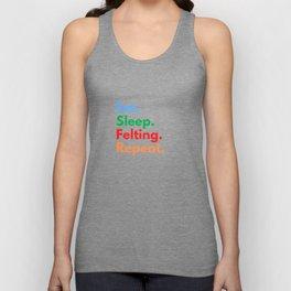 Eat. Sleep. Felting. Repeat. Unisex Tank Top