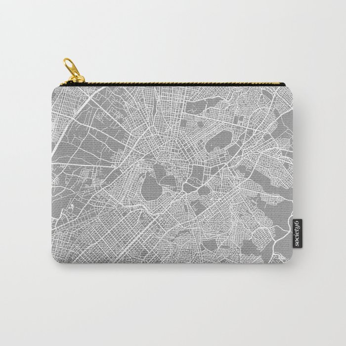 Athens map grey Carry-All Pouch