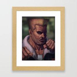 Street Fighter-Guile Framed Art Print