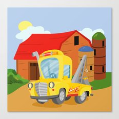 TOW TRUCK (GROUND VEHICLES) Canvas Print