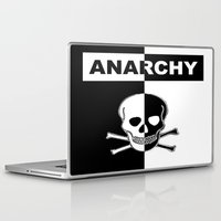 anarchy Laptop & iPad Skins featuring ANARCHY SKULL by shannon's art space