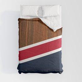 Wooden New England Comforters