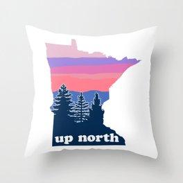 Up North Minnesota Blush Sunset Throw Pillow