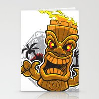 tiki Stationery Cards featuring Tiki by Eye Opening Design