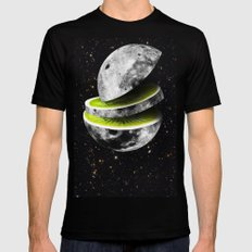 Kiwi Moon Mens Fitted Tee Black MEDIUM