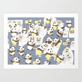 Panda Office Art Print