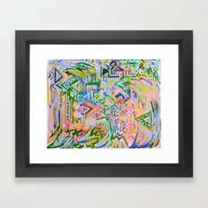 Colorz Of Ze Wind Framed Art Print