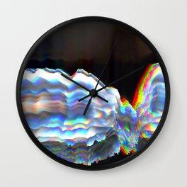 Glitch Background 09 Wall Clock