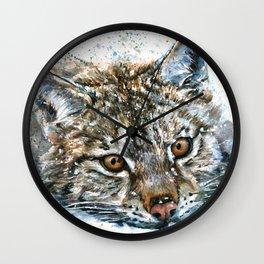 Lynx Wild and Free Wall Clock