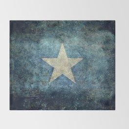Flag of Somalia - Super Grunge version Throw Blanket