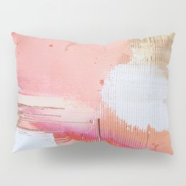 Moving Mountains: a minimal, abstract piece in reds and gold by Alyssa Hamilton Art Pillow Sham