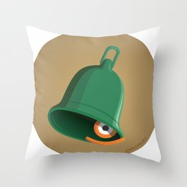 bell clapper glance Throw Pillow