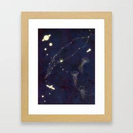 Sea Lights Framed Art Print