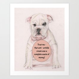Bulldog humour Art Print