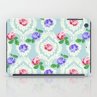 shabby chic iPad Cases featuring Shabby Chic Rose Pattern by Figen Topbas