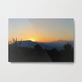 Sunset in Patzcuaro Metal Print