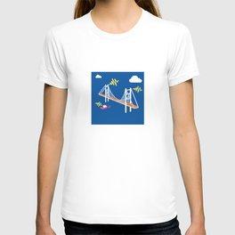 shocking bridge T-shirt