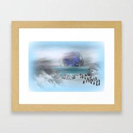 world of ice Framed Art Print