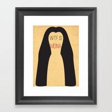 WTF is MDNA Framed Art Print