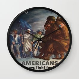 Vintage poster - World War II Wall Clock