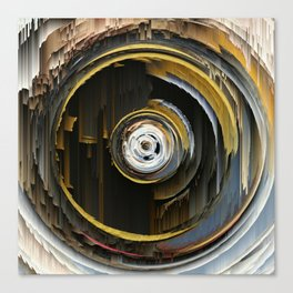 Target Rings: digital abstraction Canvas Print