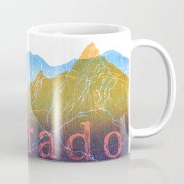 Colorado Mountain Ranges_Boulder Flat Irons + Continental Divide Coffee Mug