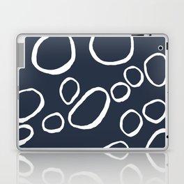 Daisy Circles Navy Laptop & iPad Skin