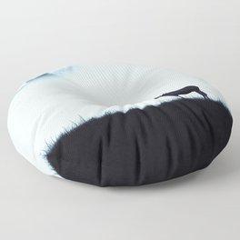 The moose - minimalist landscape Floor Pillow