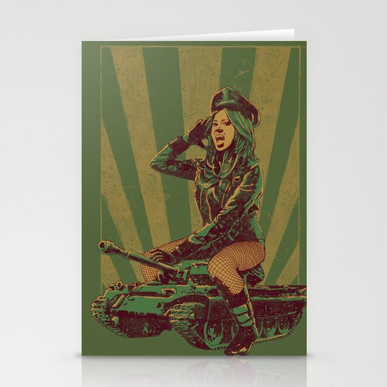 'Ready for Battle' Stationery Cards