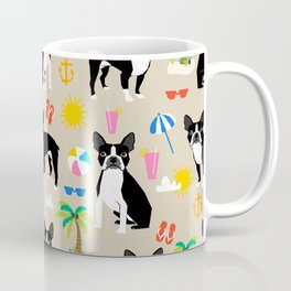 Boston Terrier beach summer vacation dog breed gifts must have boston terriers Coffee Mug