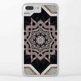 Modern Decorative Pattern Star Mandala Clear iPhone Case
