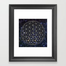 Flower of life in the space Framed Art Print