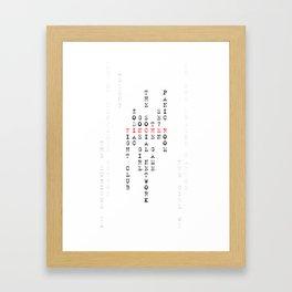 David Fincher Framed Art Print