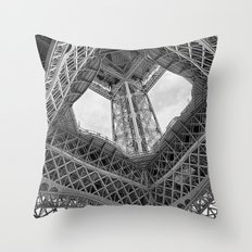 Eiffel Steel Throw Pillow