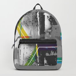 Color Chrome - B/W graphic hex Backpack