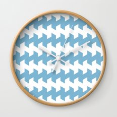 jaggered and staggered in dusk blue Wall Clock