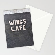 wings cafe Stationery Cards