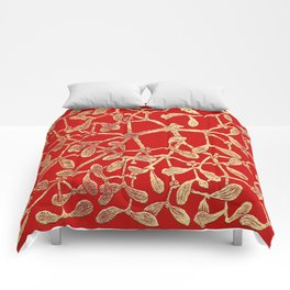 Mistletoe Red Comforters