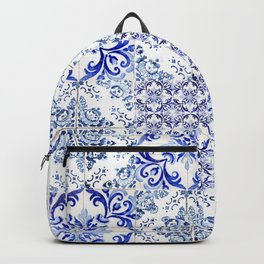 Azulejo VIII - Portuguese hand painted tiles Backpack