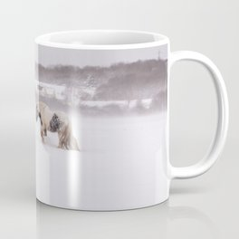 Lonely horse in the snow Coffee Mug