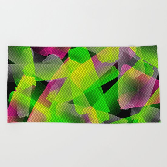 I Don't Do Normal - Abstract Print Beach Towel