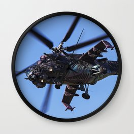 Mi-24 Helicopter Gunship Wall Clock