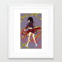 kill la kill Framed Art Prints featuring Kill la Kill by Jojieon